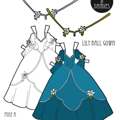 Lily Diagram Printable Wiring For 12 Volt Driving Lights A Paper Doll Princess Dress To Print And Play With The Ball Gown Princesses