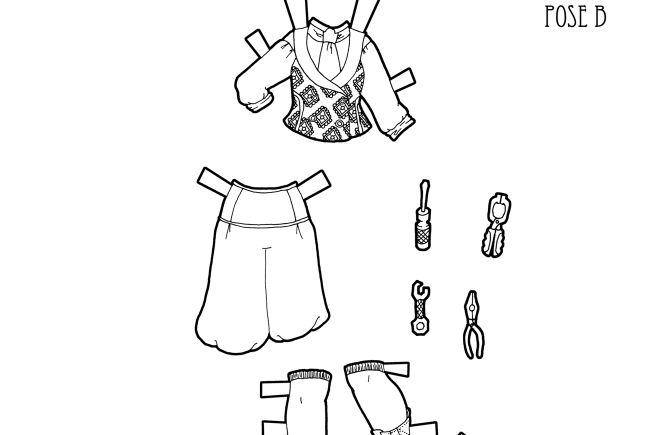 madame alexander coloring pages | Black and White Printable Paper Dolls.... Marisole Monday ...