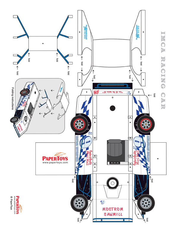 Sprint Car Template : sprint, template, Printable, Paper, Model, Template