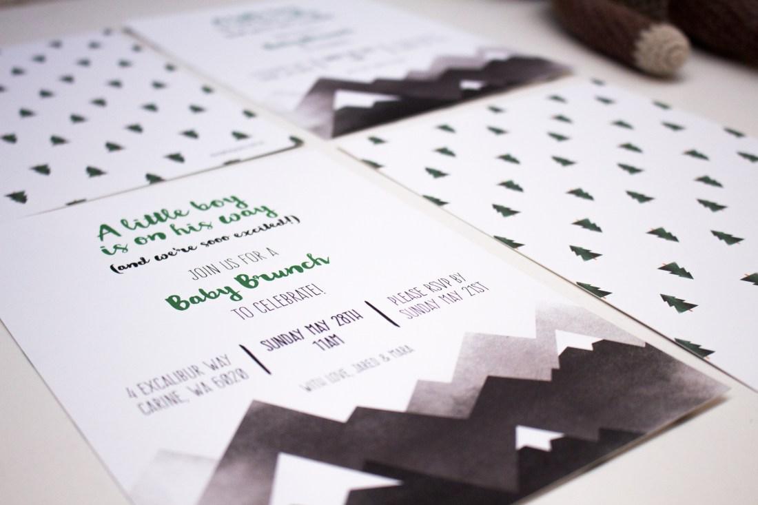 baby brunch invitation design