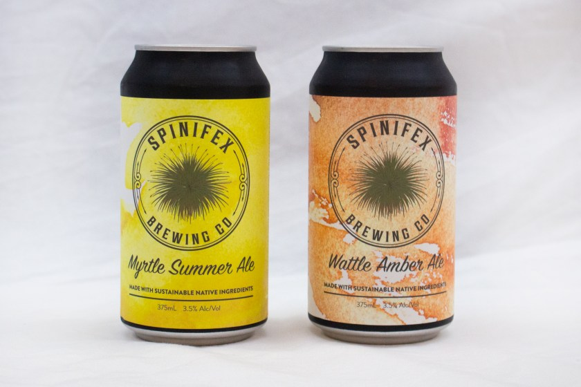Spinifex Brewing Co Myrtle and Wattle Can Design