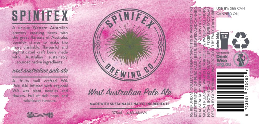 Spinifex Brewing Co West Australian Pale Ale Can Label Design