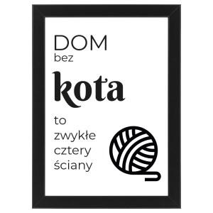 "Plakat ""Dom bez kota"" #025"