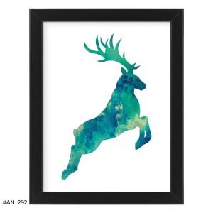 Plakat skaczący jeleń – #AN292