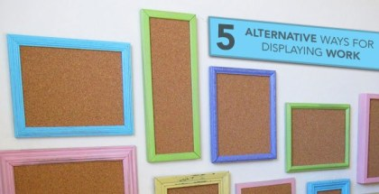 alternative ways display classroom work