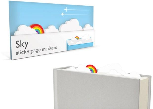 sky sticky page markers