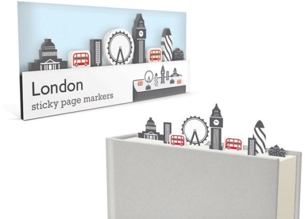 london sticky page markers