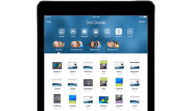 apple ipad screen view app classroom