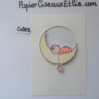 Blog Hop Autour d'un set de tampons: Moon Baby!
