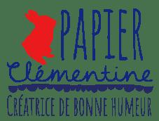 logo papier clementine rouge et bleu avec phrase - Crédits