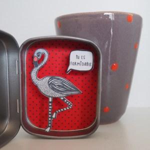boite reconfort flamingo formidable - Boite Réconfort Minute Flamant Formidable
