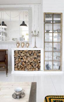 źródło: moderndesignlife.com /miejsce na drzewo kominkowe/ firewood storage