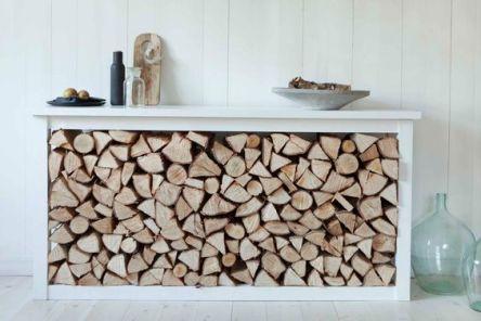 źródło: husligheter.elle.se /miejsce na drzewo kominkowe/ firewood storage