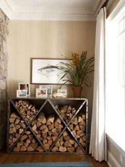 źródło: chandosinteriors.com /miejsce na drzewo kominkowe/ firewood storage