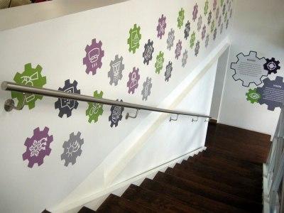 diseño para muro escaleras