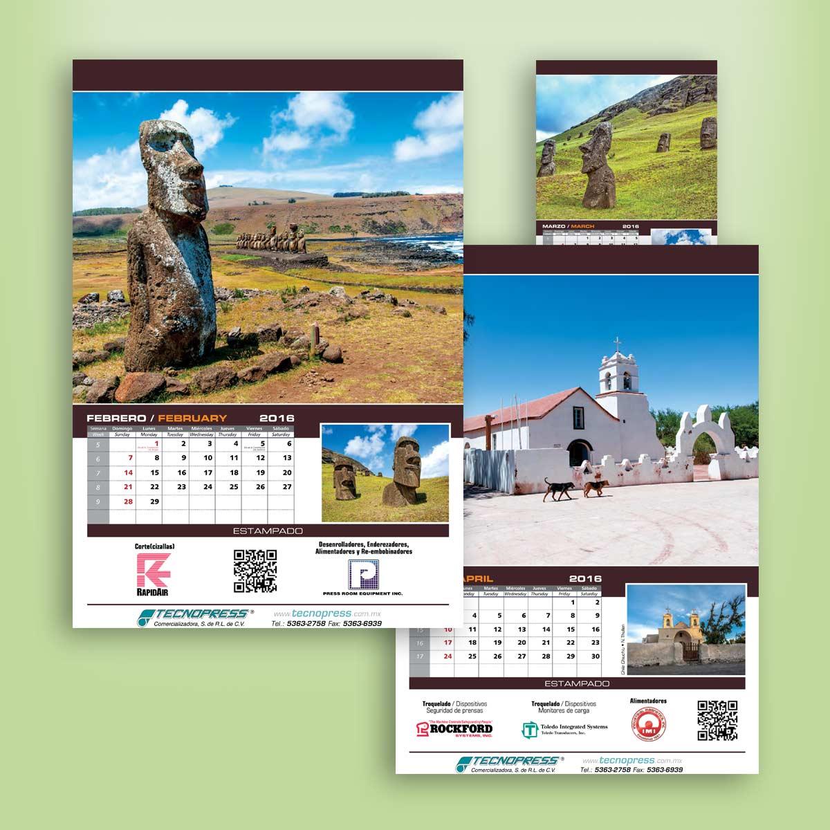diseño de calendarios Tencnopress