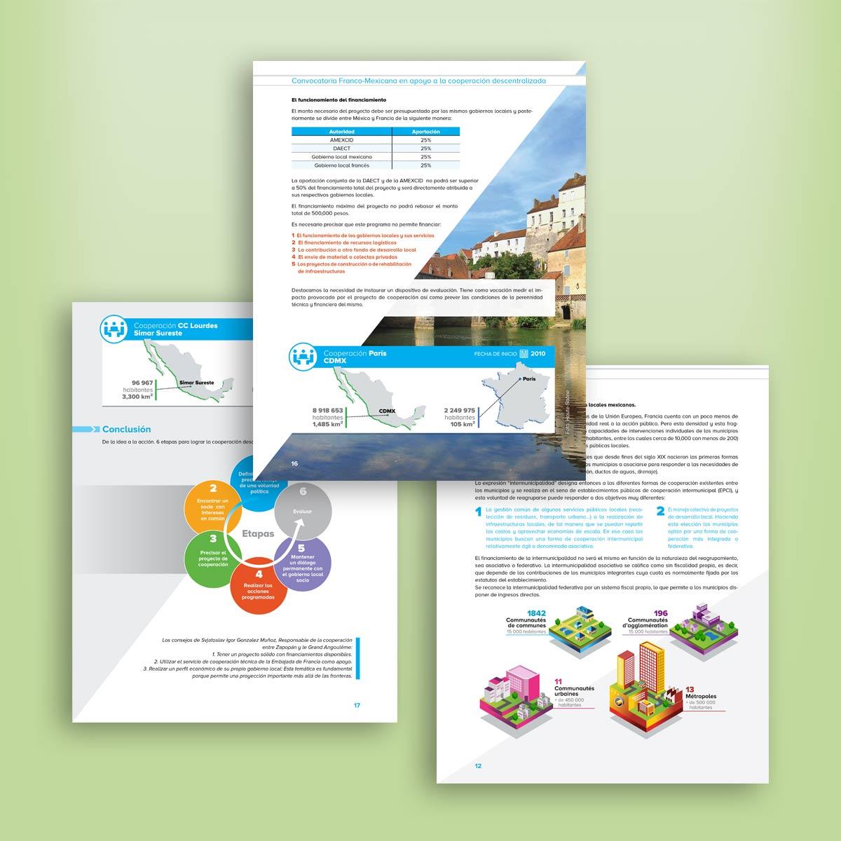 diseño editorial de folleto embajada