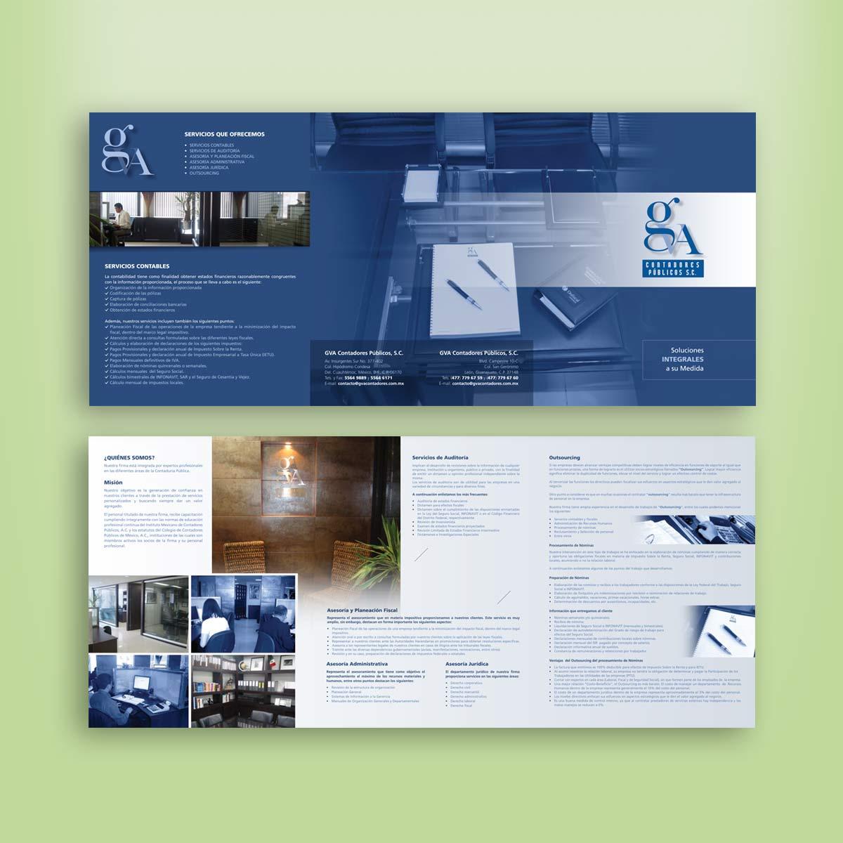 diseño de carpeta comercial GVA