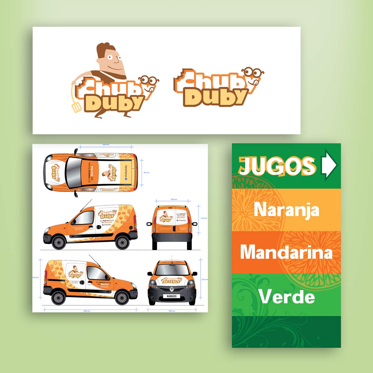 diseño de logotipo personaje Chubyduby