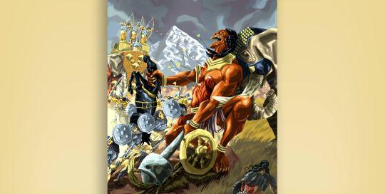 ilustraciíon fantástica Kali Yuga