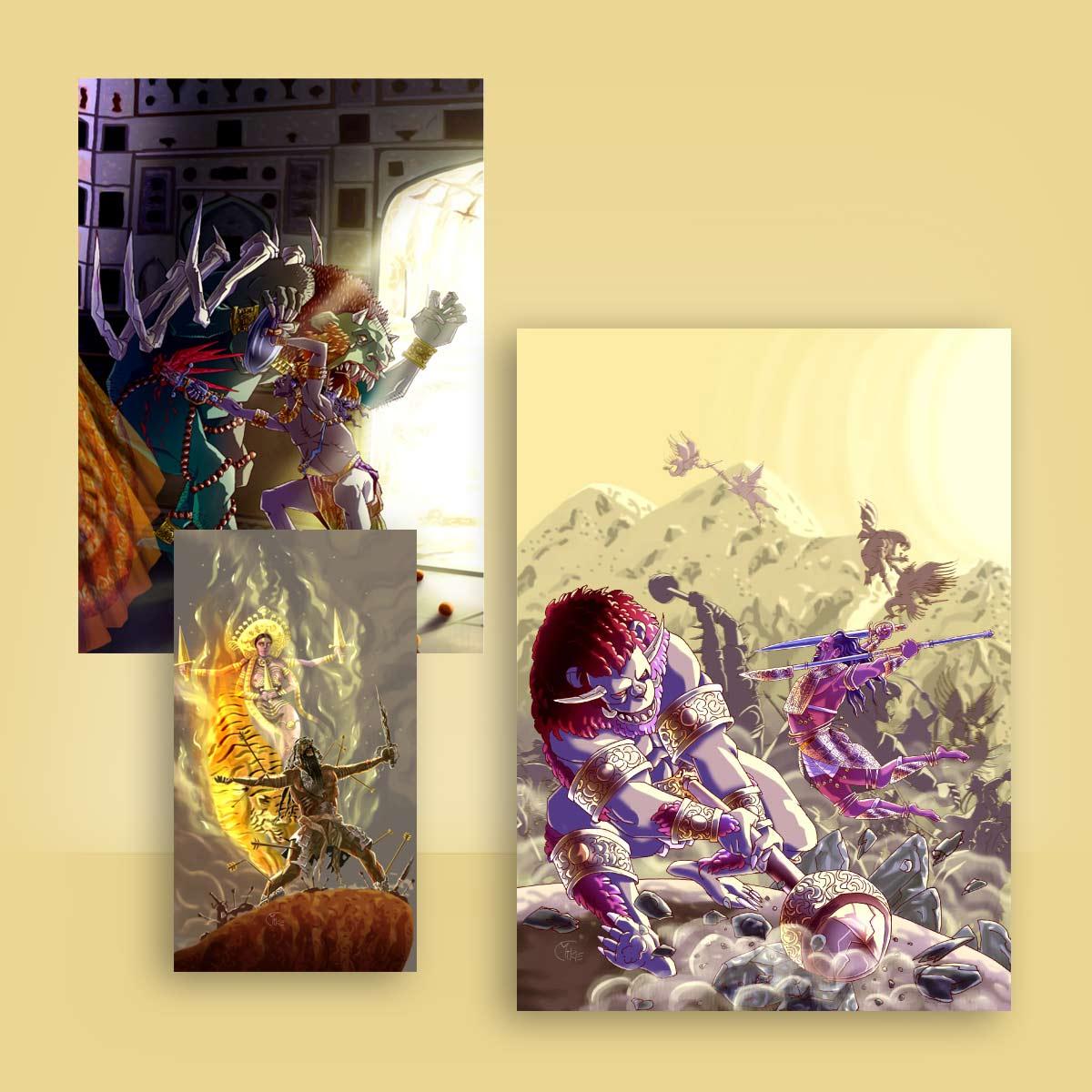 ilustración juego de roles Kali Yuga