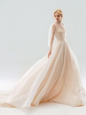 wedding dress with high neckline