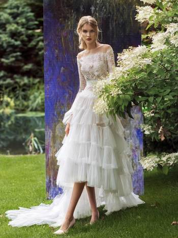 high-low wedding dress