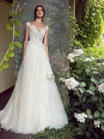 cap sleeved wedding dress