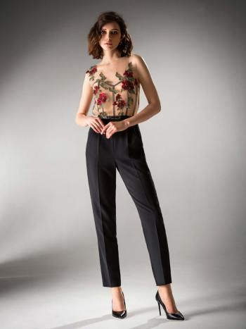 Jumpsuit with illusion bodice