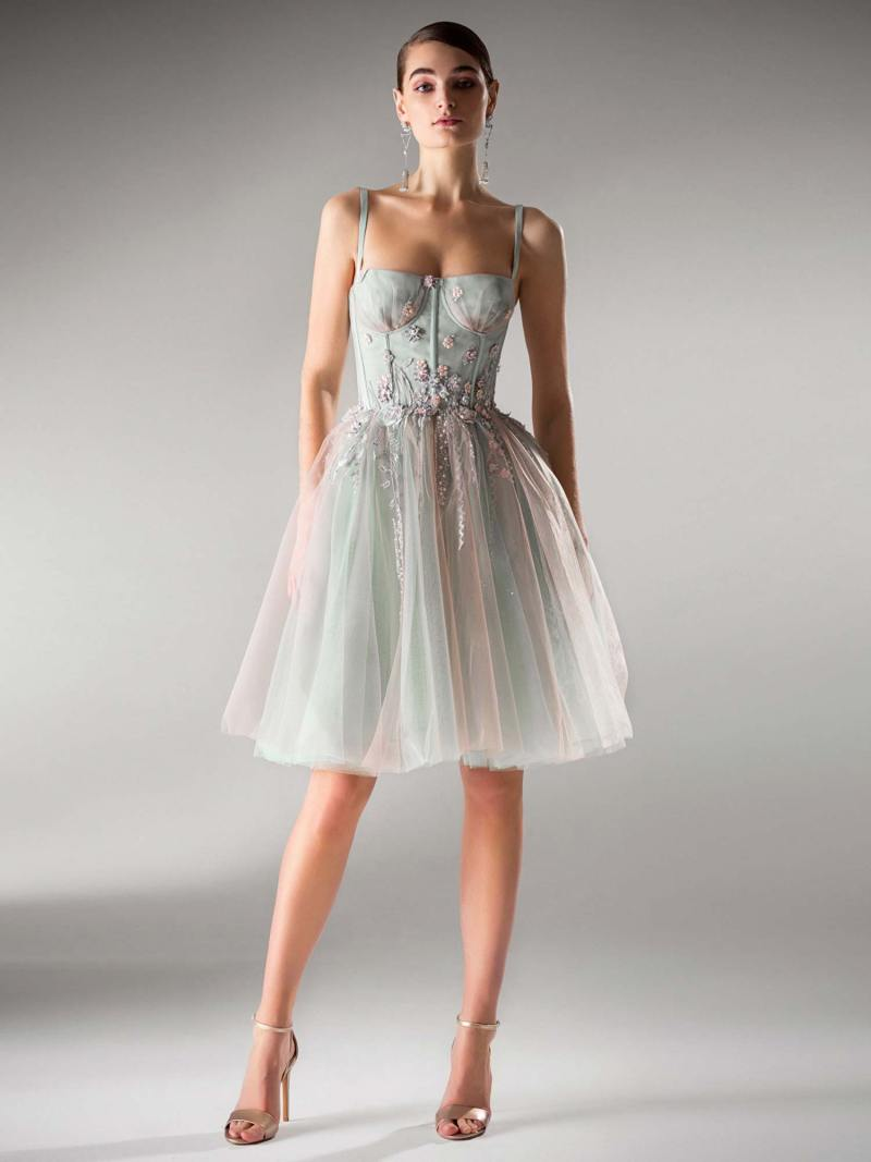 A-line dress with bustier bodice