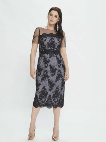 dress with illusion sleeves