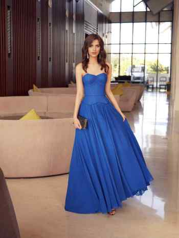 Formal dress with a flowy skirt and structured bodice