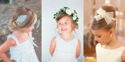 flower girl hairstyles - papilio