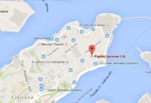 Our Offices in Valletta | Papilio Services Limited