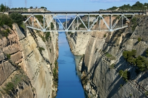 Superyacht St David passing through the Corinth Canal | Papilio Services Limited