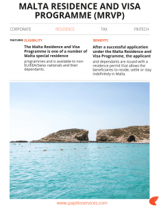 Malta Residence and Visa Programme | Papilio Services Limited