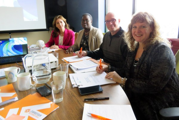 Mirella De Civita signs the partnership agreement with Crossroads International and Green Beaver