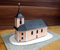Papercraft imprimible y armable de la Iglesia de San Martín en Jamy. Manualidades a Raudales.