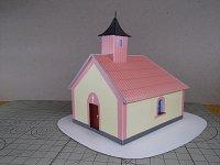 Papercrat imprimible y armable de Capilla de la Virgen María en Kotlasy. Manualidades a Raudales.