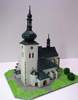 Papercraft imprimible y armable de la Iglesia de St. Vaclav en Krizanov / Kostel sv. Václava v Křižanově. Manualidades a Raudales.