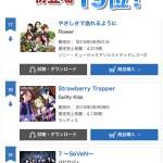 1st single 【7〜SeVeN〜】オリコンウィークリーランキング初登場19位