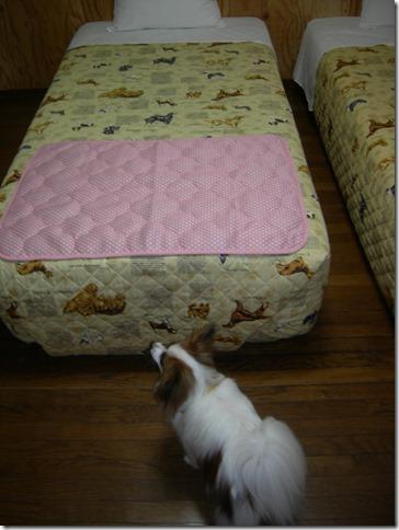 ペンションボスケット客室ベッド