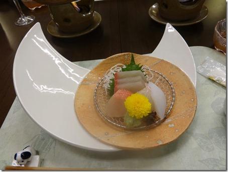 しぶごえ館山の夕食お造り