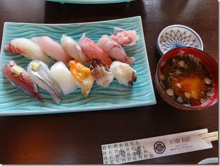 千葉県のペット同伴OKレストランの1つお寿司屋さんの鮨和のお寿司