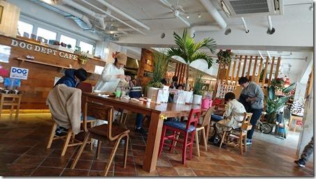 ドッグデプトカフェ湘南江の島店の店内風景