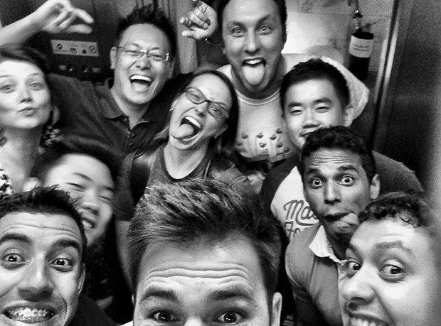 Selfie no elevador