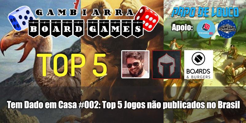 Top 5 não publicados