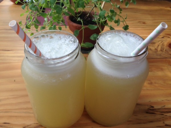 Limonada feita com Limão orgânico e adoçada com Agave