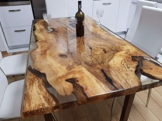 Amazing Resin Wood Table For Your Home Furniture 28