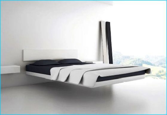 Cool Floating Bed Design Ideas 13